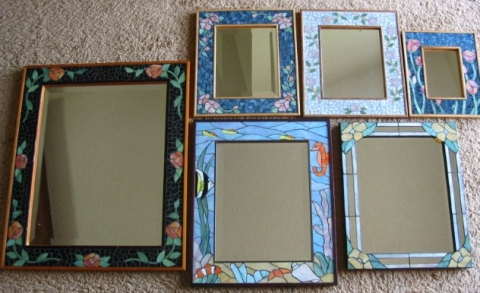 Stained Glass Mosaic Mirrors